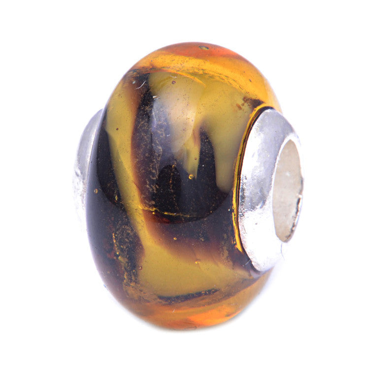 Charmlinks Glass Bead Marigold - Exclusive Bead Store