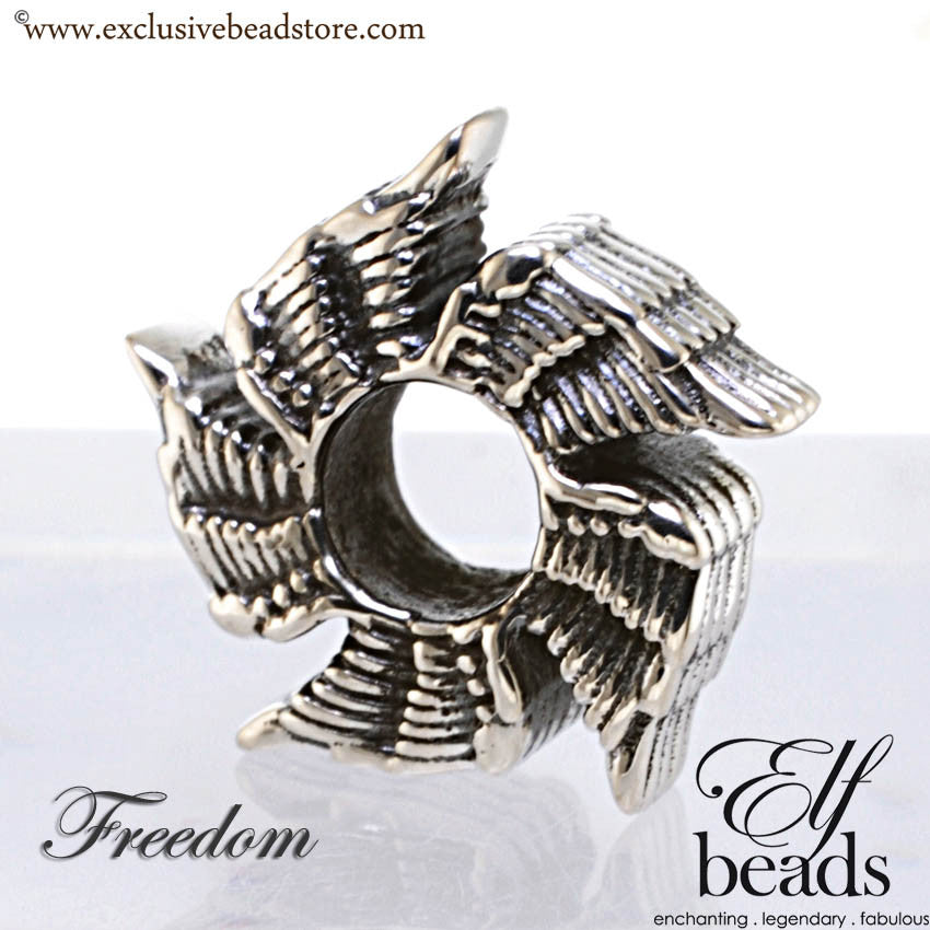 Elfbeads Silver Freedom Bead