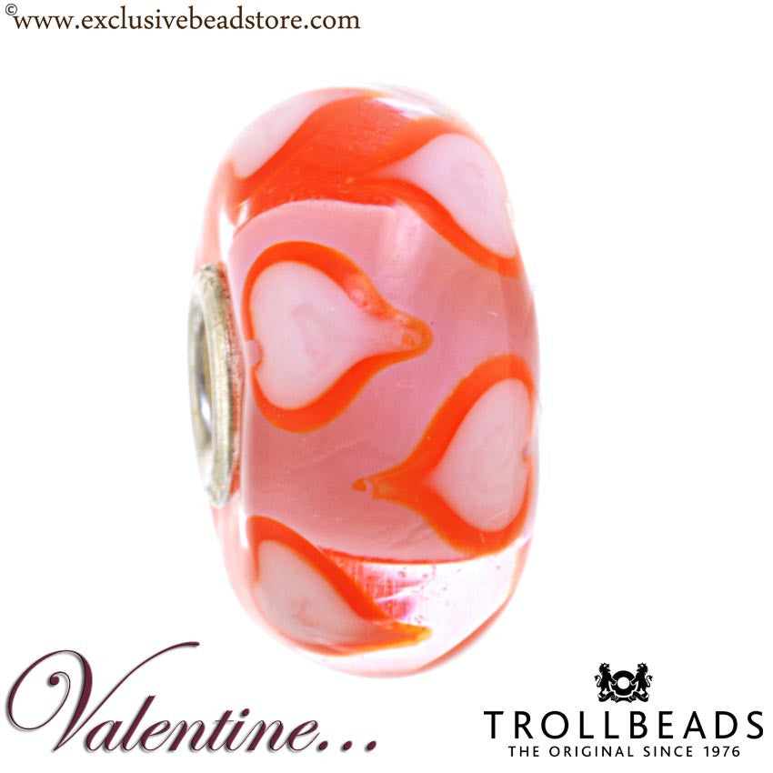 Trollbeads 64617-6 White and Orange Love Symphony