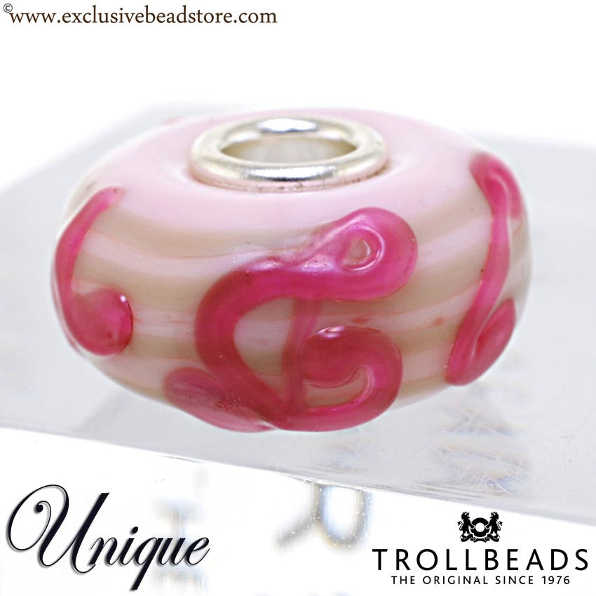 Trollbeads Unique Glass Bead. (OOAK) Musical Notes