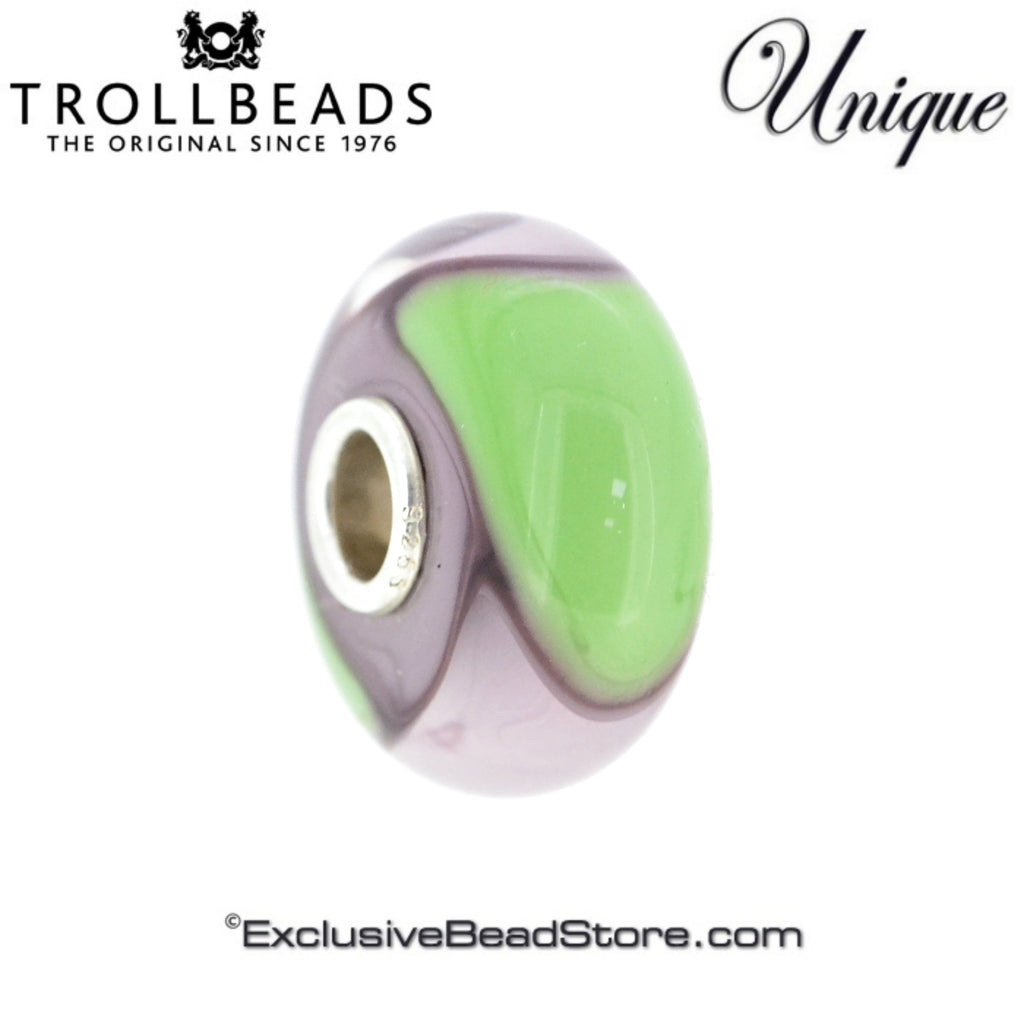 Trollbeads Limited Edition US Armadillo Special Unique Mint & Lavender