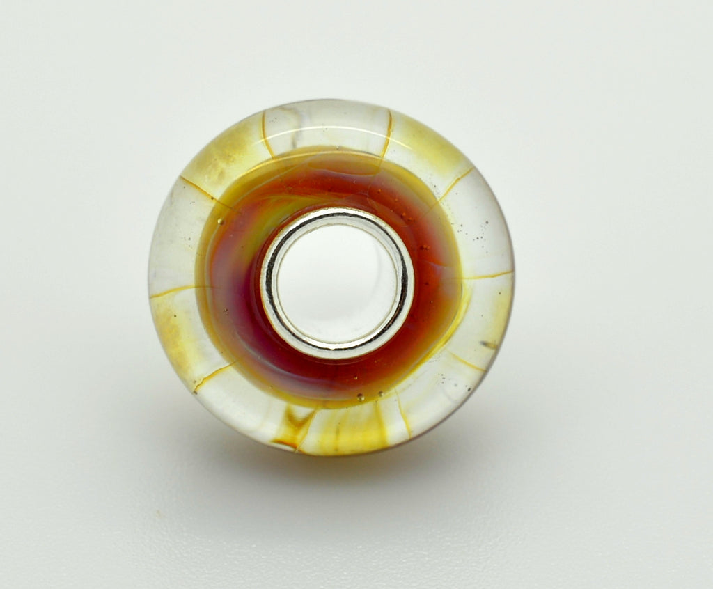 Elfbeads Halo Zebra Glass Bead