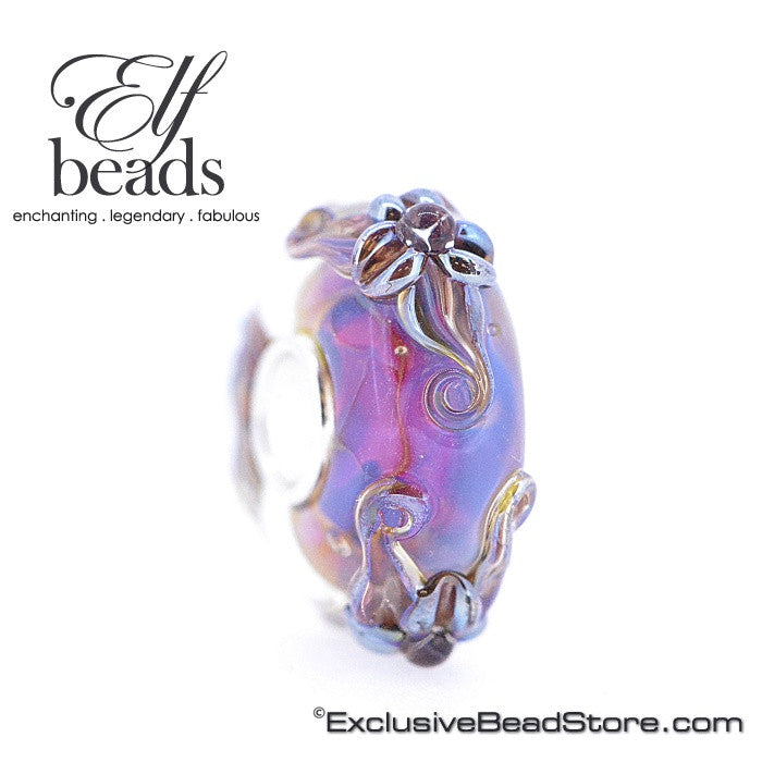 Elfbeads Violet Lilies