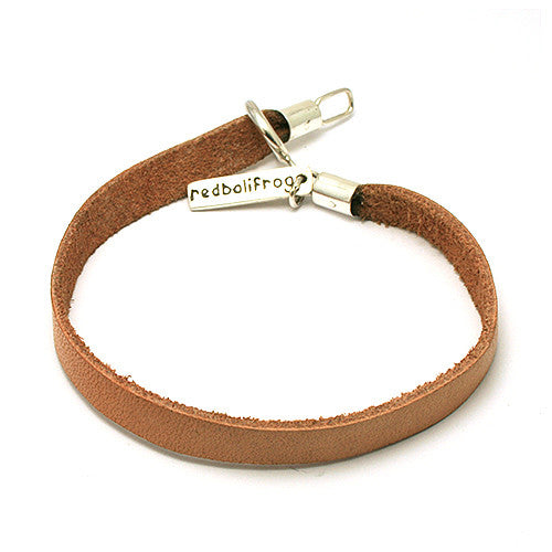 Redbalifrog Tan Leather Bracelet