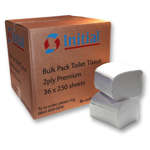 Initial Interleaved toilet tissue refill