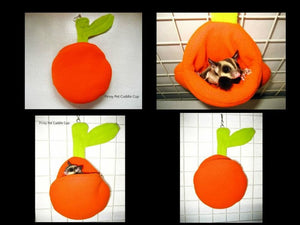 Sugar Glider and Small Pets Orange Pouch