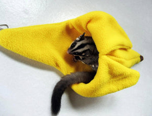 Sugar Glider and Small Pets Yellow Banana Pouch