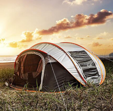 FactCore™ Portable Automatic Camping Pop-up Tent in color gray
