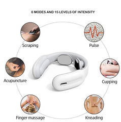 FactCare™ Portable Electric Shoulder Neck Pain Relief Massager has 6 Modes and 15 Levels of Intensity