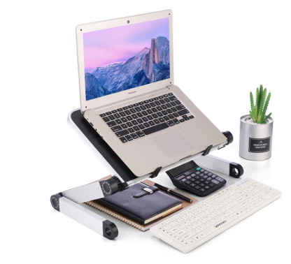 FactCare™ Adjustable Laptop Stand with laptop