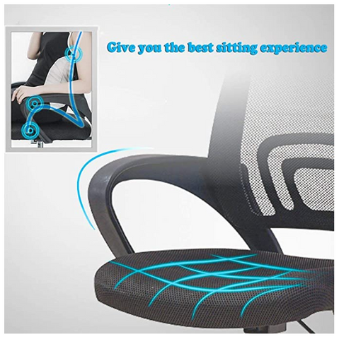 A lady sitting in the FactDesign™ Ergonomic Office Mesh Swivel Chair