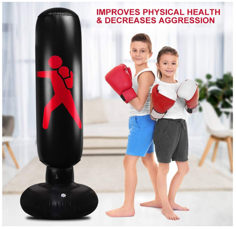 You can use now your FactFit™ Home Fitness Inflatable Punching Bag can also be used by kids