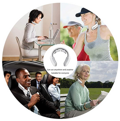 FactCare™ Portable Electric Neck Pain Relief Massager can be used in the car outside walking, working at your desk.