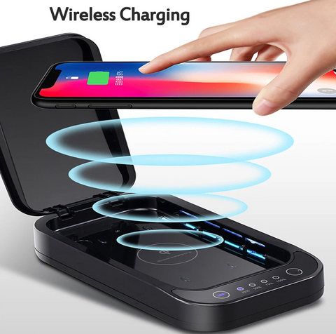 FactCare™ Portable UV Light Sterilizer Disinfection Box Cleaner wireless charging