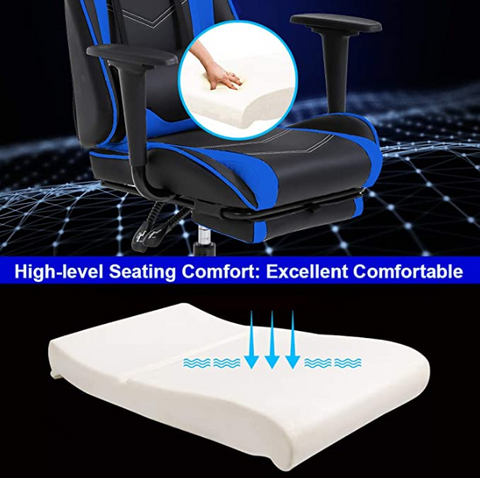 FactDesign™ High Back Gaming Chair with Footrest