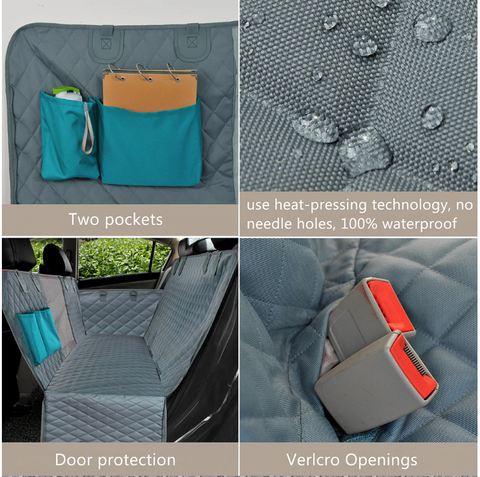Waterproof and Durable FactPet™ Waterproof Back Seat Dog Cover Hammock For Car