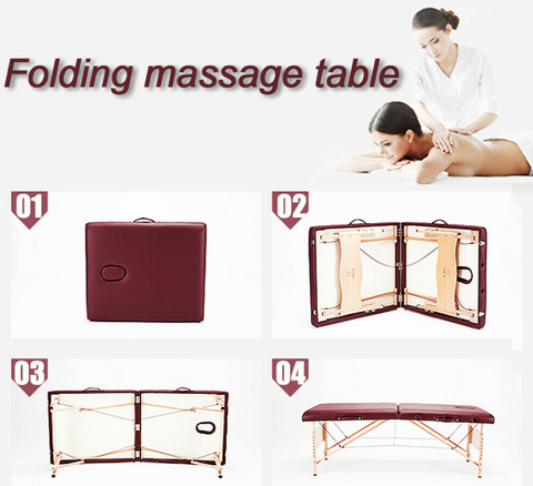 Steps on how to use FactFit™ Portable Adjustable 82 Inch Professional Massage Table