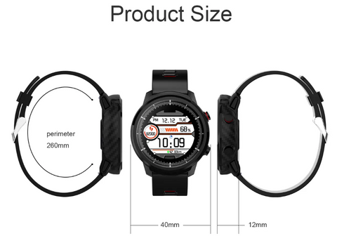Actual size of the FactBand™ Blood Pressure Smart Watch and Health Tracker Heart Rate Monitor