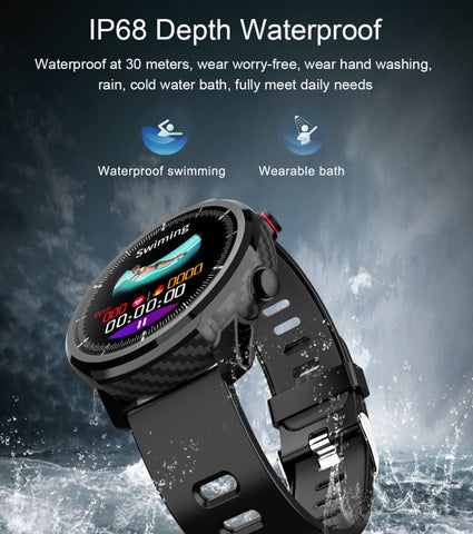 FactBand™ Blood Pressure Smart Watch and Health Tracker Heart Rate Monitor Waterproof