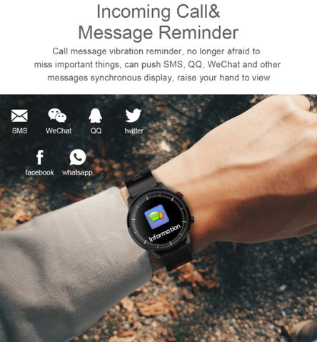 FactBand™ Blood Pressure Smart Watch and Health Tracker Heart Rate Monitor in a wrist and can connect to a phone