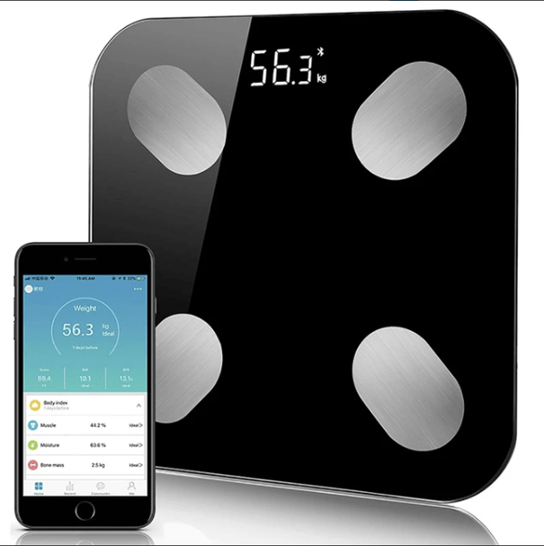 FactFit™ Bluetooth Body Fat Percentage Fittrack Weight Scale with AIFIT app on smartphone