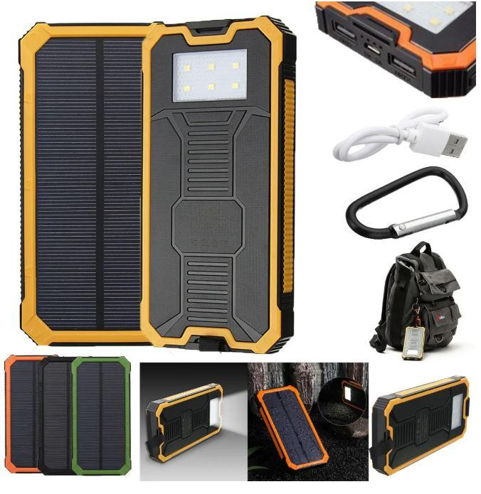 Solar Power Bank Waterproof Dual USB Battery Phone Charger 8000mah - Quizel Store
