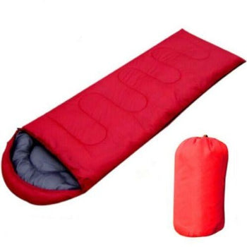 FactCore Waterproof Sleeping Bag Outdoor Survival Thermal Camping Envelope in Red - Quizel Store