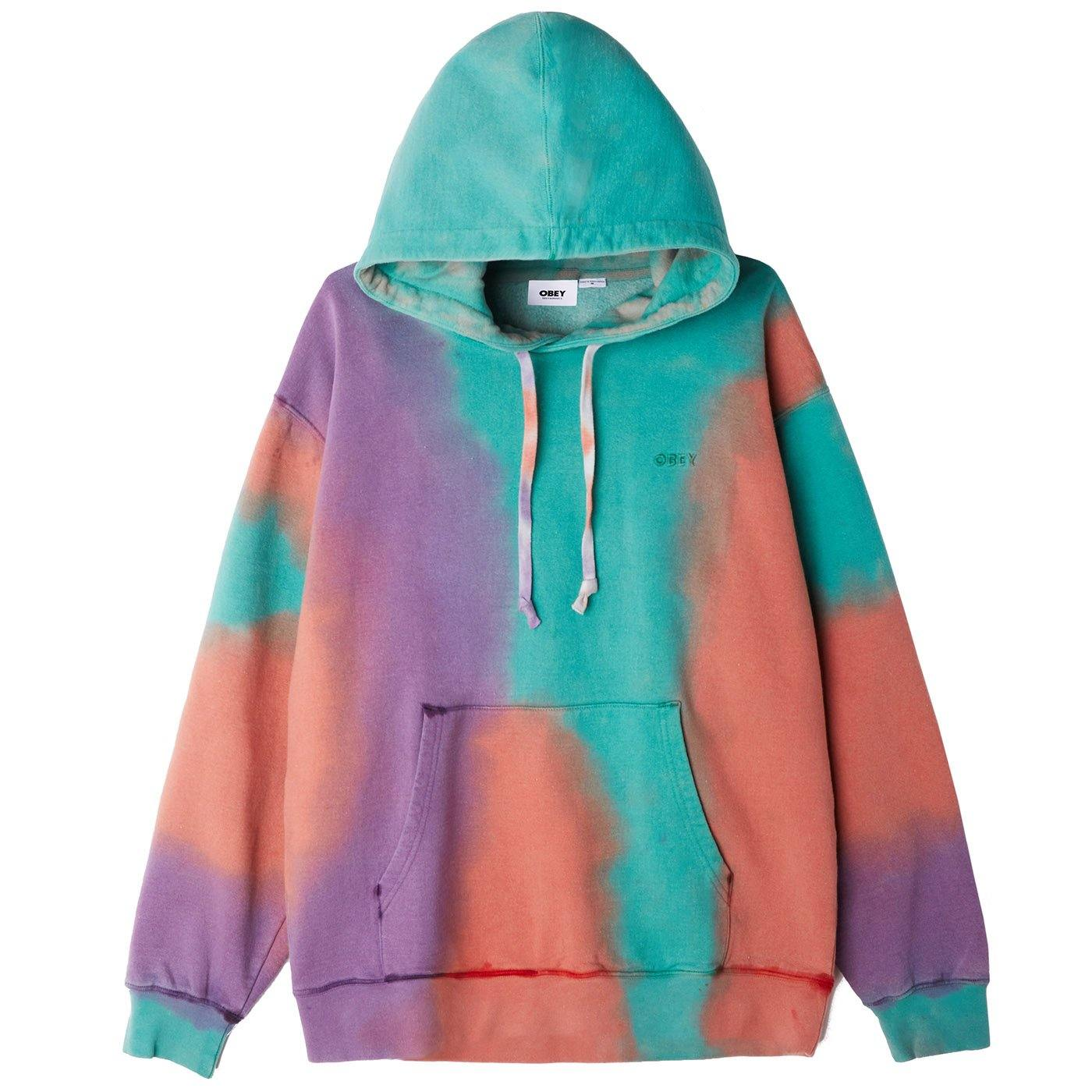 Obey sustainable tie dye Pullover Hood-purple nitro multi - WATERKANT Store  |  Ottensen-Hamburg Ottensen Altona