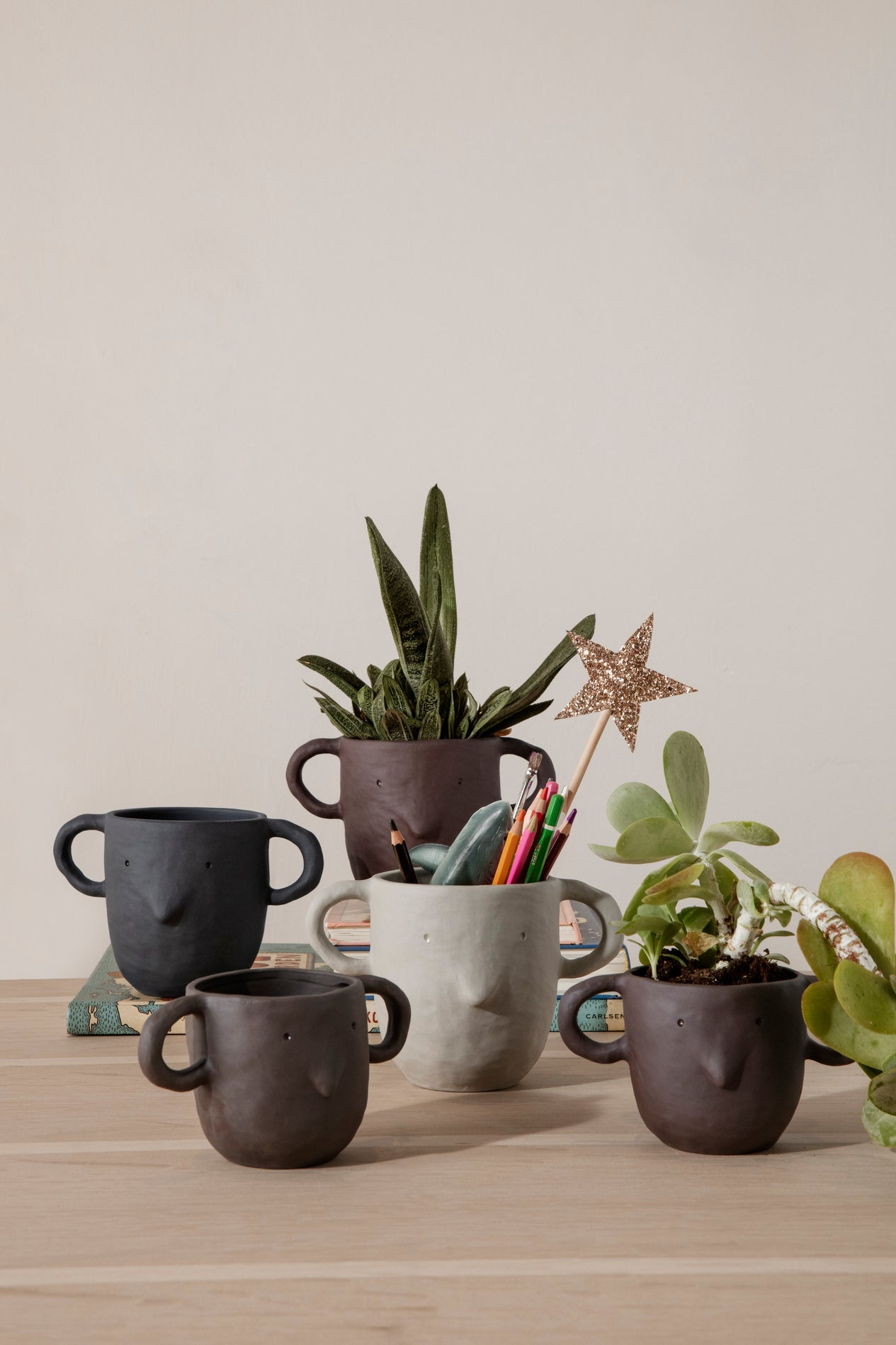 Mus Plant Pot - Sand large fermLiving