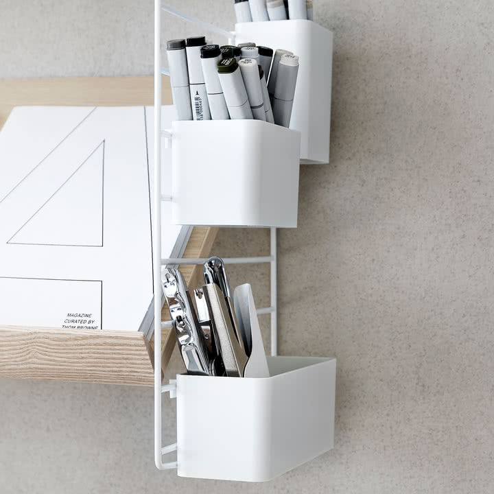 ORGANIZERS, weiss (set of 3)