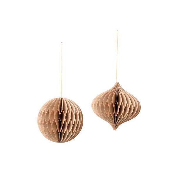 WEIHNACHTSDEKO - Mix natural brown set of 2 BROSTE COPENHAGEN
