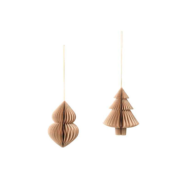 WEIHNACHTSDEKO - Mix natural brown tanne set of 2 BROSTE COPENHAGEN