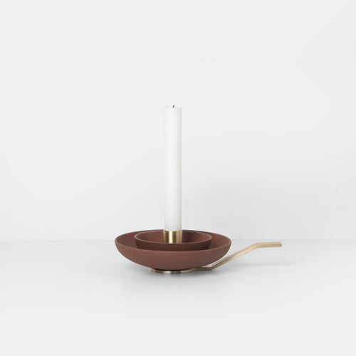 KERZENHALTER - around candle holder, rust