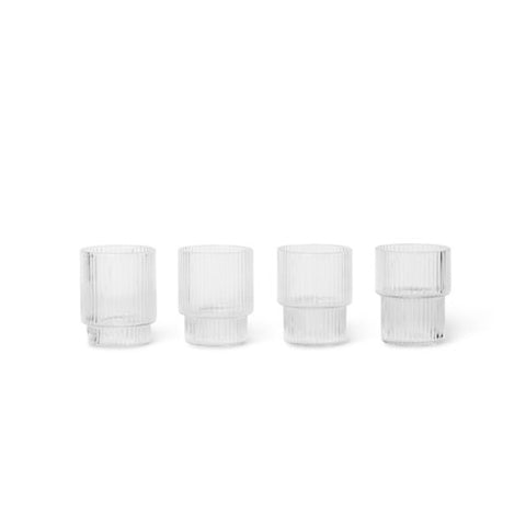 GLAS - ripple, small (set of 4)