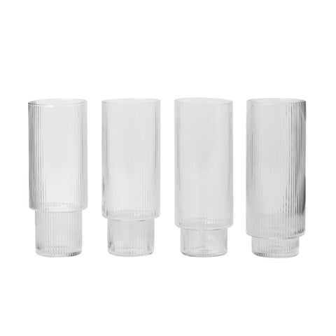 GLAS -  ripple long drinks (set of 4)