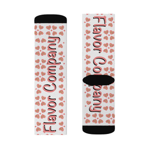 Flavor Co Heart Sublimation Socks