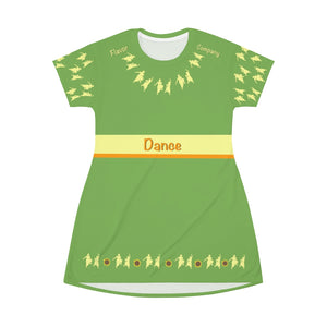 Flavor Dancer All Over Print T-Shirt Dress