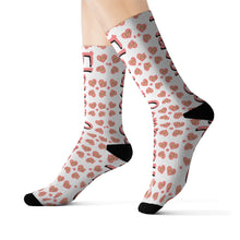 Load image into Gallery viewer, Flavor Co Heart Sublimation Socks