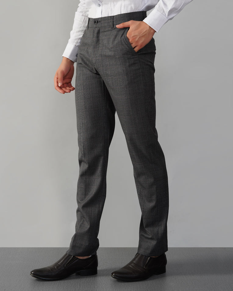 Grey Unstructured Cotton-Blend Suit Trousers