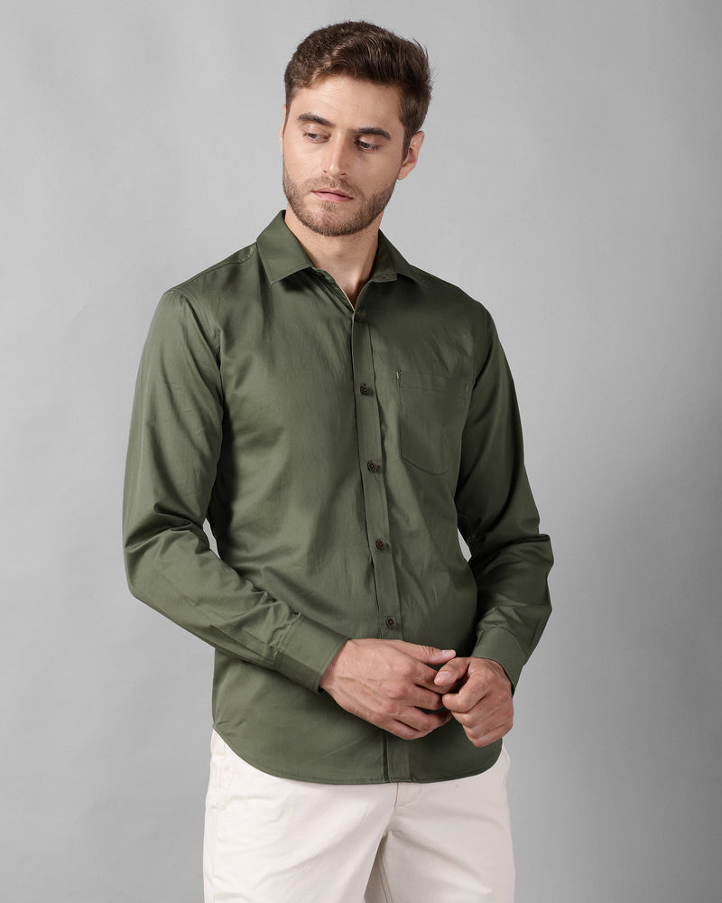 Olive Oxford Shirt