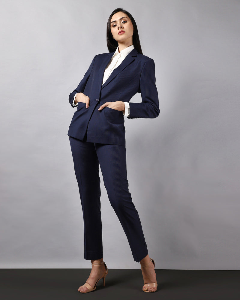 Long One-Button Blazer