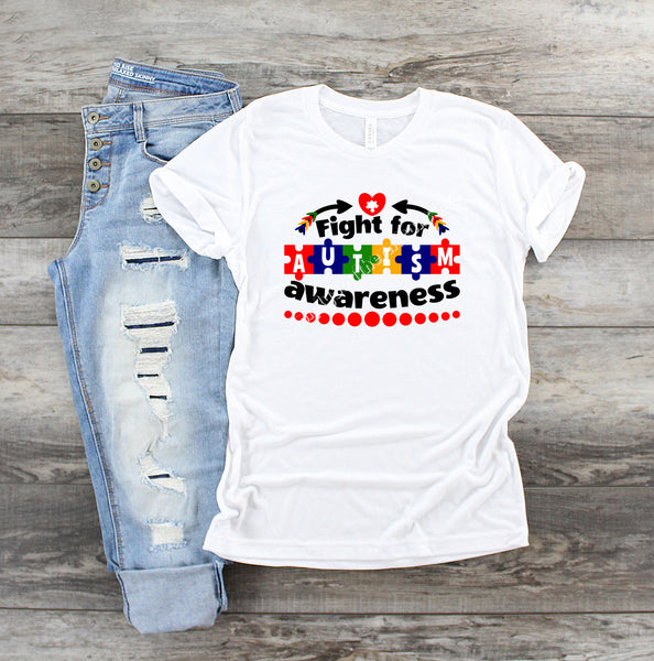 Autism Awareness Sublimation Transfer AS001