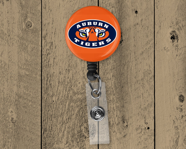 Auburn Football Retractable Badge Reel