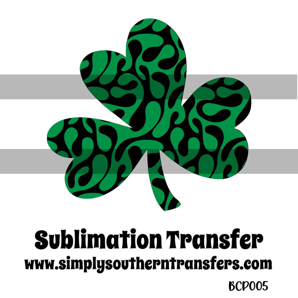 Patterned Shamrock Sublimation Transfer BCP005