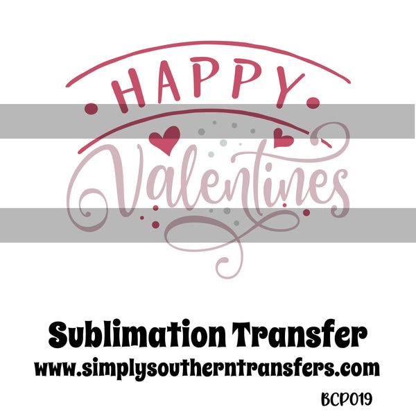 Happy Valentine's Sublimation Transfer BCP019
