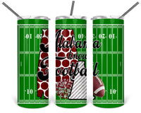 Alabama Football Straight or Tapered 20 oz Skinny Tumbler Sublimation Transfer  BMP010