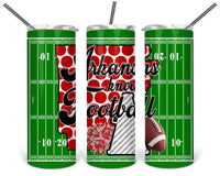 Arkansas Knows Football 20 oz Double Walled Insulated Tumbler BMP011