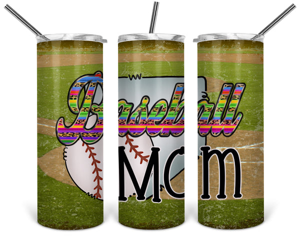 Baseball Mom 20 oz Double Walled Insulated Tumbler BMP018