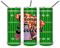 Clemson Knows Football Straight or Tapered 20 oz Skinny Tumbler Sublimation Transfer  BMP033