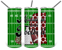Mississippi Knows Football Straight or Tapered 20 oz Skinny Tumbler Sublimation Transfer  BMP070